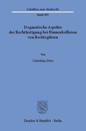 Dogmatische Aspekte der Rechtfertigung bei Binnenkollision von Rechtsgütern.