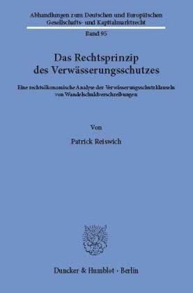 Das Rechtsprinzip des Verwässerungsschutzes.