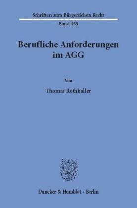 Berufliche Anforderungen im AGG.