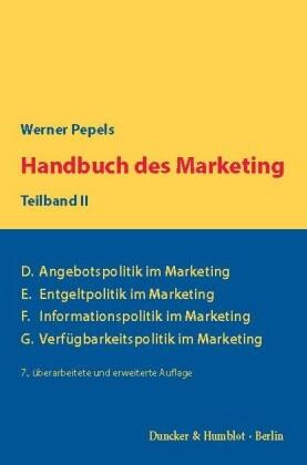 Handbuch des Marketing, Teilband II.