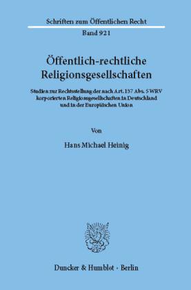 Öffentlich-rechtliche Religionsgesellschaften.