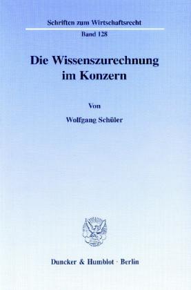 Die Wissenszurechnung im Konzern.