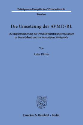 Die Umsetzung der AVMD-RL.