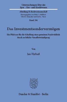 Das Investmentsondervermögen.