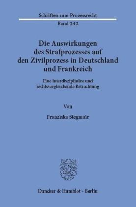 Die Auswirkungen des Strafprozesses auf den Zivilprozess in Deutschland und Frankreich.