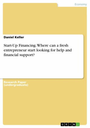 Start-Up Financing. Where can a fresh entrepreneur start looking for help and financial support?
