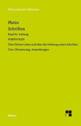 Plotins Schriften. Band Vc