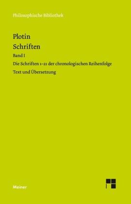 Plotins Schriften. Band I (Textband)