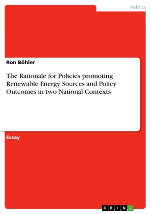 The Rationale for Policies promoting Renewable Energy Sources and Policy Outcomes in two National Contexts