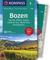 KOMPASS Wanderführer Bozen, Sarntal, Ritten, Eppan, Kalterer See, Seiser Alm, Rosengarten, m. 1 Karte Cover