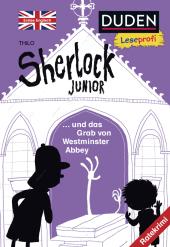 Sherlock Junior und das Grab von Westminster Abbey, Erstes Englisch Cover