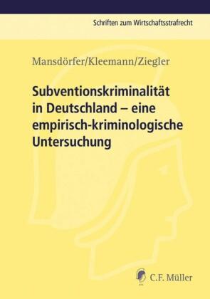 Subventionskriminalität in Deutschland