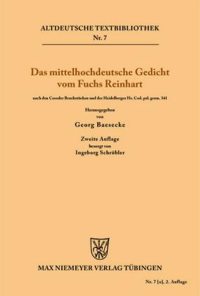 Das mittelhochdeutsche Gedicht vom Fuchs Reinhart