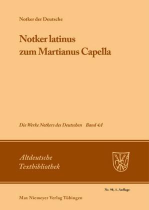 """""""Notker latinus"""" zum Martianus Capella"""
