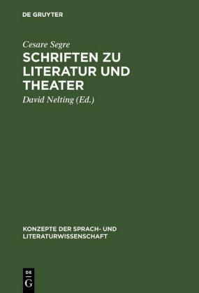 Schriften zu Literatur und Theater