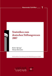 Statistiken zum Deutschen Stiftungswesen 2007