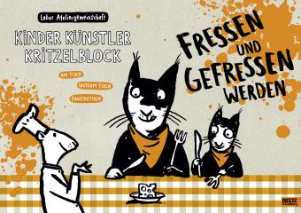 Kinder Künstler Kritzelblock - Fressen und gefressen werden, Volume 17