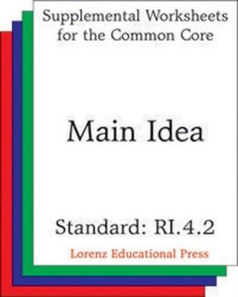 Main Idea (CCSS RI.4.2)