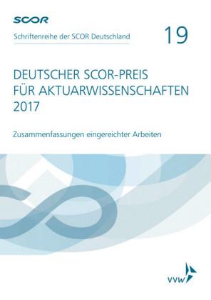 Deutscher SCOR-Preis für Aktuarwissenschaften 2017