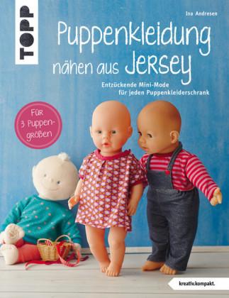 Puppenkleidung nähen aus Jersey