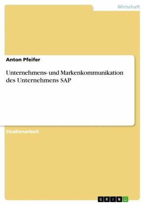 Unternehmens- und Markenkommunikation des Unternehmens SAP