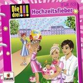 Die drei !!! - Hochzeitsfieber!, 1 Audio-CD Cover