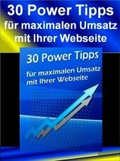 30 Power Tipps - Für mehr Umsatz mit Ihrer Webseite