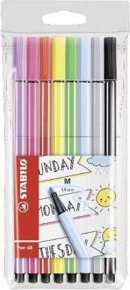STABILO Pen 68 8er Etui Pastellfarben My STABILO Journal