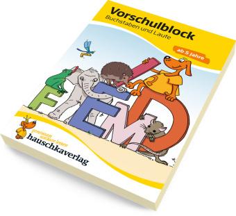 Vorschulblock - Buchstaben und Laute