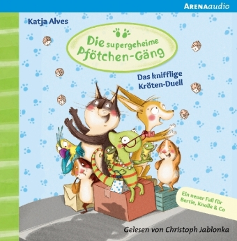 Die supergeheime Pfötchen-Gäng - Das knifflige Kröten-Duell, 1 Audio-CD