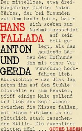 Anton und Gerda