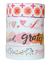 Washi Tapes Design Rot, 4 Rollen Cover