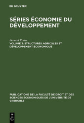 Structures agricoles et développement economique