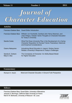 Journal of Character Education Issue