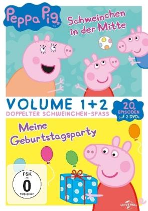 Peppa Pig - Schweinchen in der Mitte & Meine Geburtstagsparty, 2 DVD