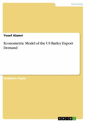 Econometric Model of the US Barley Export Demand