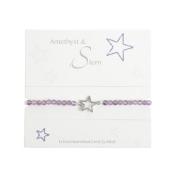 """Armband mit Echtsteinen Amethyst mit Symbol """"Stern"""" Cover"""