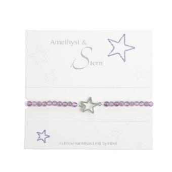 """Armband mit Echtsteinen Amethyst mit Symbol """"Stern"""""""