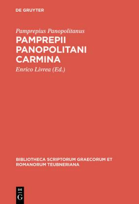 Pamprepii Panopolitani carmina