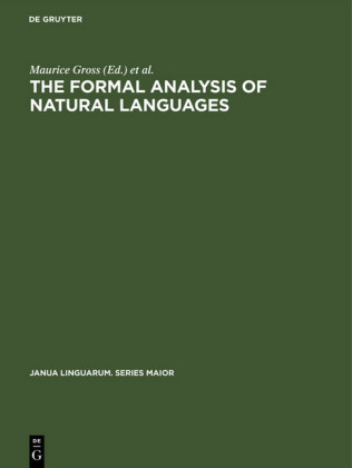The Formal Analysis of Natural Languages