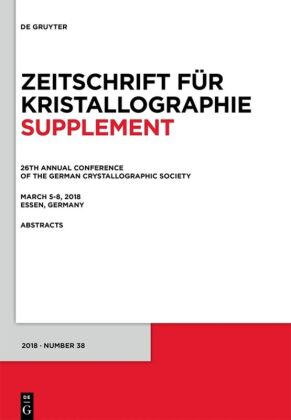 26th Annual Conference of the German Crystallographic Society, March 5-8, 2018, Essen, Germany