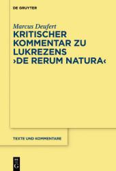 Kritischer Kommentar zu Lukrezens 'De rerum natura'
