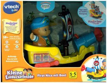 Kleine Entdeckerbande - Pirat Nico mit Boot