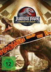 Jurassic Park 1-3 + Jurassic World 1, 4 DVD Cover