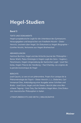 Hegel-Studien / Hegel-Studien Band 3