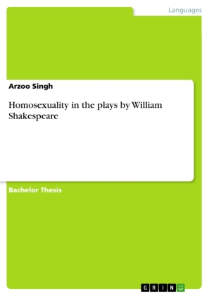 Homosexuality in the plays by William Shakespeare