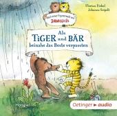 Als Tiger und Bär beinahe das Beste verpassten, 1 Audio-CD Cover