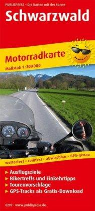 PublicPress Motorradkarte Schwarzwald