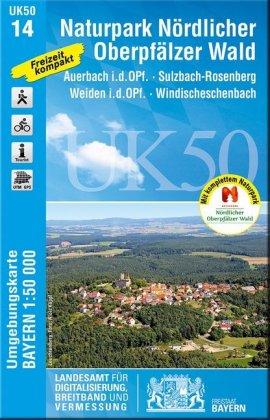 Topographische Karte Bayern Naturpark Nördlicher Oberpfälzer Wald