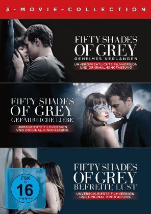 Fifty Shades of Grey - 3 Movie - Collection, 3 DVD